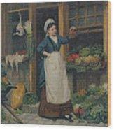 The Fruit Seller Wood Print by Victor Gabriel Gilbert