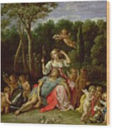 The Garden Of Armida Wood Print by David the younger Teniers