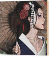 The Geisha Wood Print by Pete Tapang