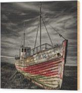 The Ghost Ship Wood Print by Evelina Kremsdorf