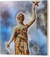 The Goddess Of Liberty - Texas State Capitol Wood Print by Wendy J St Christopher