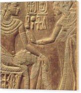 The Golden Shrine Of Tutankhamun Wood Print by Egyptian Dynasty