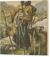 The Good Shepherd Wood Print by English School
