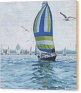 The Great Race 06 Wood Print by Laura Lee Zanghetti