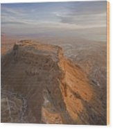 The Great Refuge Of Masada Looms Wood Print by Michael Melford