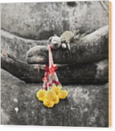 The Hand Of Buddha Wood Print by Adrian Evans