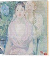 The Hortensia Wood Print by Berthe Morisot