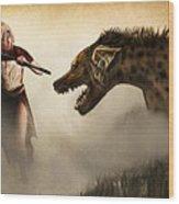 The Hyaenodons - Allie's Battle Wood Print by Mandem