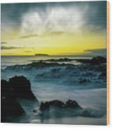 The Infinite Spirit  Tranquil Island Of Twilight Maui Hawaii  Wood Print by Sharon Mau