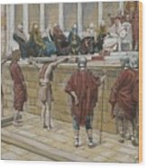 The Judgement On The Gabbatha Wood Print by Tissot