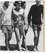 The Kennedys, Robert, Jackie, Ethel Wood Print by Everett