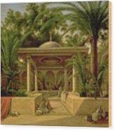 The Khabanija Fountain In Cairo Wood Print by Grigory Tchernezov