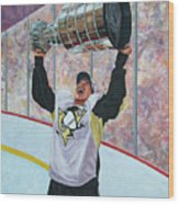 The Kid And The Cup Wood Print by Allan OMarra
