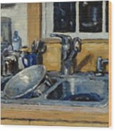 The Kitchen Sink Wood Print by Thor Wickstrom