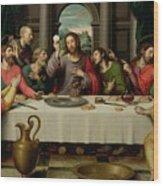 The Last Supper Wood Print by Vicente Juan Macip