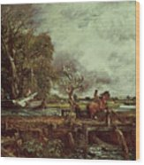 The Leaping Horse Wood Print by John Constable