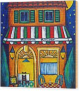 The Little Trattoria Wood Print by Lisa  Lorenz