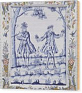 The Magic Flute Wood Print by French School