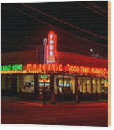 The Majestic Diner Wood Print by Corky Willis Atlanta Photography