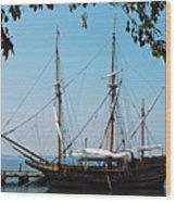 The Maryland Dove Ship Wood Print by Thomas R Fletcher