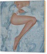 The Milk Bath Wood Print by Sergey Ignatenko