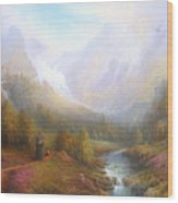 The Misty Mountains Wood Print by Joe  Gilronan