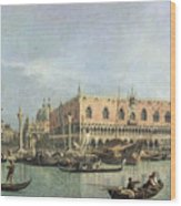 The Molo And The Piazzetta San Marco Wood Print by Canaletto