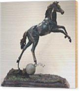 The Moonhorse Bronze Wood Print by Dawn Senior-Trask