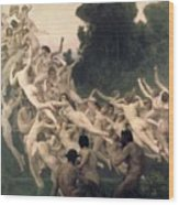 The Oreads Wood Print by William-Adolphe Bouguereau