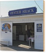 The Oyster Shack At Drakes Bay Oyster Company In Point Reyes California . 7d9832 Wood Print by Wingsdomain Art and Photography