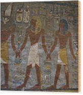 The Painted Walls Inside A Tomb Wood Print by Taylor S. Kennedy