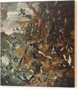 The Parliament Of Birds Wood Print by Carl Wilhelm de Hamilton