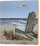 The Pelican Wood Print by Elizabeth Robinette Tyndall