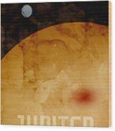 The Planet Jupiter Wood Print by Michael Tompsett