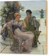 The Proposal Wood Print by Sir Lawrence Alma Tadema