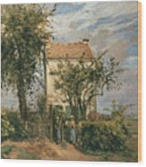 The Road To Rueil Wood Print by Camille Pissarro