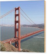 The San Francisco Golden Gate Bridge 7d14507 Wood Print by Wingsdomain Art and Photography