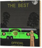 The Scream World Tour Tennis Tour Bus Simply The Best Wood Print by Eric Kempson