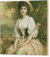 The Shepherdess Wood Print by Sir Samuel Luke Fildes