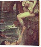 The Siren Wood Print by John William Waterhouse