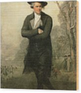 The Skater Portriat Of William Grant Wood Print by Gilbert Stuart