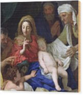 The Sleeping Christ Wood Print by Charles Le Brun