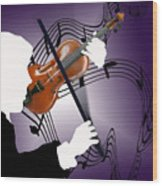 The Soloist Wood Print by Steve Karol