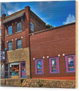 The Strand Theatre - Old Forge New York Wood Print by David Patterson