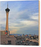 The Stratosphere In Las Vegas Wood Print by Susanne Van Hulst