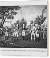 The Surrender Of General Burgoyne Wood Print by War Is Hell Store