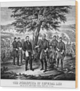 The Surrender Of General Lee  Wood Print by War Is Hell Store