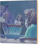 The Tea Party Wood Print by Leonard Filgate