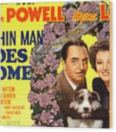 The Thin Man Goes Home, William Powell Wood Print by Everett