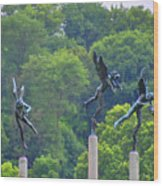 The Three Angels Wood Print by Bill Cannon